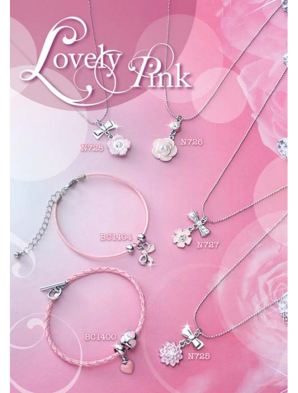 Lovely Pink- Bracelet, Necklace